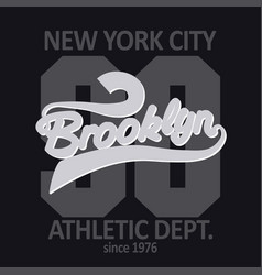 Brooklyn t-shirt graphics vector