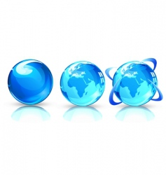 Earth globes vector