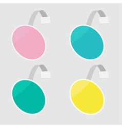 Set of round wobblers empty template flat design vector