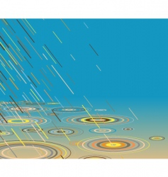 Colored rain vector