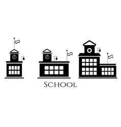Picture of three school buildings vector