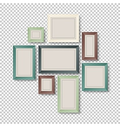 Art frames on transparent vector