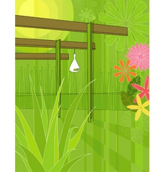 Outdoor patio vector