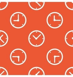 Orange clock pattern vector