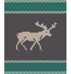 knitted deer vector image