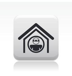 home thief icon vector image