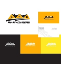 Real estate orange logo vector