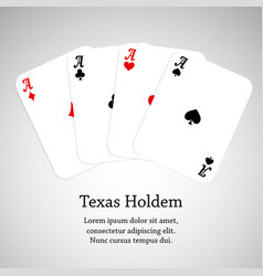 ace poker cards vector image