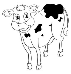 Animal outline for cow vector
