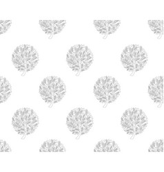 black tree seamless on white background vector image vector image
