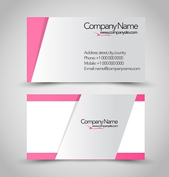 Business card set template Pink and grey color vector image vector image