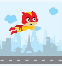 cartoon superhero game asset theme hero art vector image