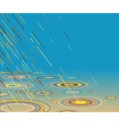 colored rain vector image