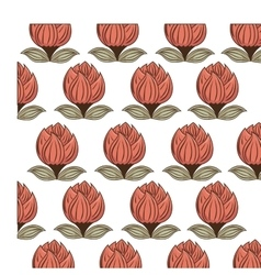 decorative flower pattern background vector image vector image