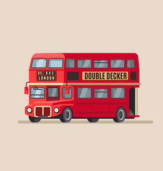 Double decker city bus vector