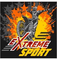 Extreme sport - moto emblem vector
