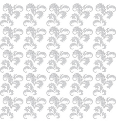 gray and white floral seamless background vector image