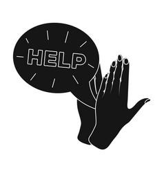 Hands single icon in black stylehands vector