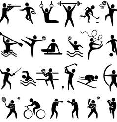 IconsSportBl vector image