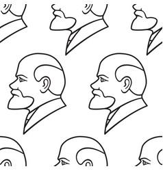 Lenin contour pattern vector