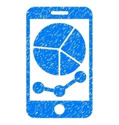 Mobile graphs grainy texture icon vector