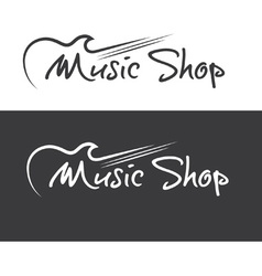 Music shop design template vector