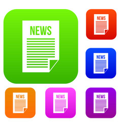news newspaper set collection vector image vector image