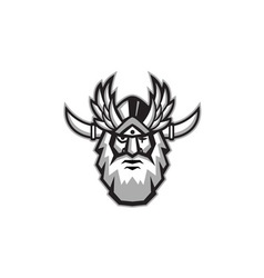 Norse god odin head retro vector