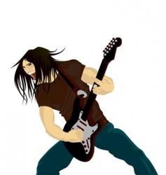 rock guitarist vector image vector image