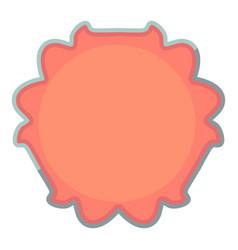 Round tag icon cartoon style vector