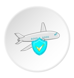 Safety in air travel icon cartoon style vector image vector image