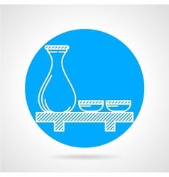 Sake set round icon vector