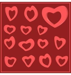Set of hearts for Valentine s Day vector image