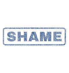 Shame textile stamp vector