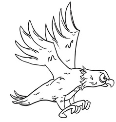 simple black and white eagle vector image vector image