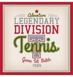 Tennis Sport Badge vector image vector image