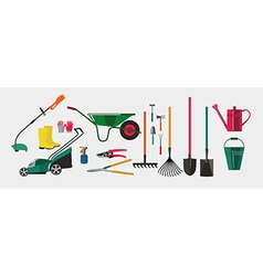 Tools for working in the garden and kailyard vector image vector image
