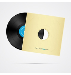 Vinyl Record Disc with Cover vector image vector image