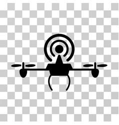 Wifi repeater drone icon vector