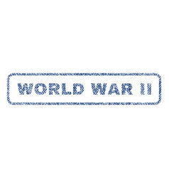 World war ii textile stamp vector