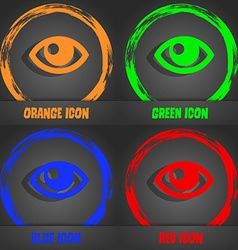 Eye icon fashionable modern style in the orange vector