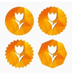 Flower sign icon rose symbol vector