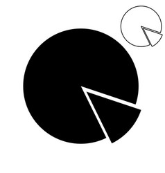 Black pie chart with part vector