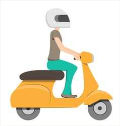 Scooter riding vector