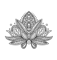 Persian or turkish paisley flower vector image