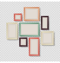 Frames set hipster color theme vector