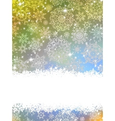 Abstract blue winter with snowflakes EPS 8 vector image