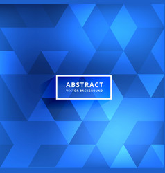 Abstract blurred blue shiny triangle patterns vector
