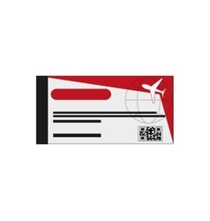 airplane boarding pass icon vector image
