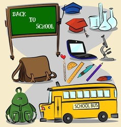 Back to school stroke version 2 vector image vector image